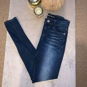 Mid rise express jeans